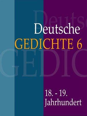 cover image of Deutsche Gedichte 6