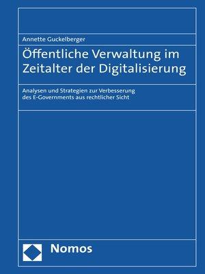 cover image of Öffentliche Verwaltung im Zeitalter der Digitalisierung