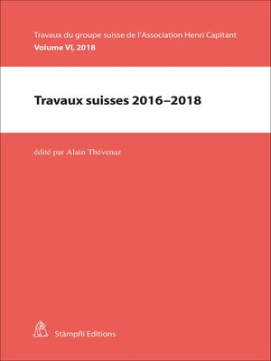 cover image of Travaux suisses 2016-2018