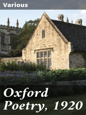 cover image of Oxford Poetry, 1920