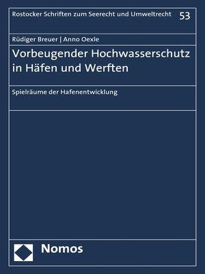 cover image of Vorbeugender Hochwasserschutz in Häfen und Werften
