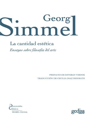 cover image of La cantidad estética