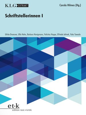cover image of KLG Extrakt--Schriftstellerinnen I