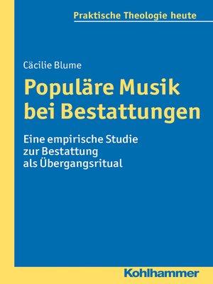 cover image of Populäre Musik bei Bestattungen