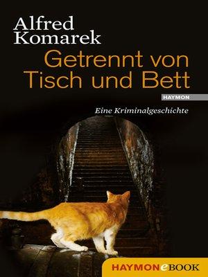 cover image of Getrennt von Tisch und Bett