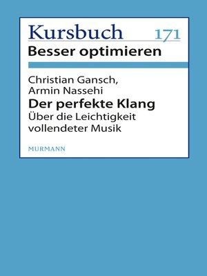 cover image of Der perfekte Klang