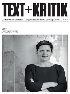 cover image of TEXT+KRITIK 207--Felicitas Hoppe
