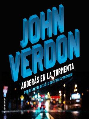 cover image of Arderás en la tormenta