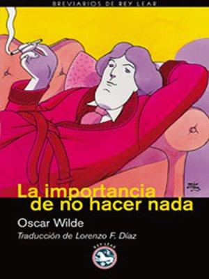 cover image of La importancia de no hacer nada