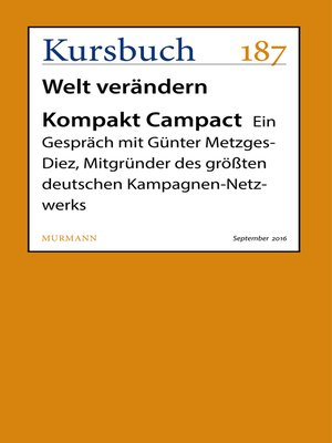 cover image of Kompakt Campact