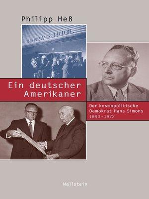 cover image of Ein deutscher Amerikaner