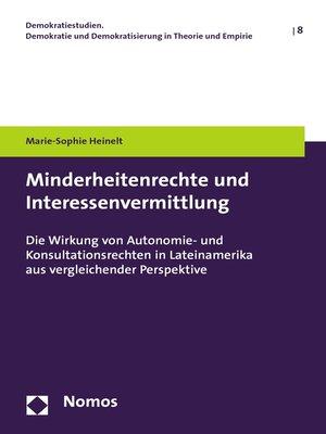 cover image of Minderheitenrechte und Interessenvermittlung