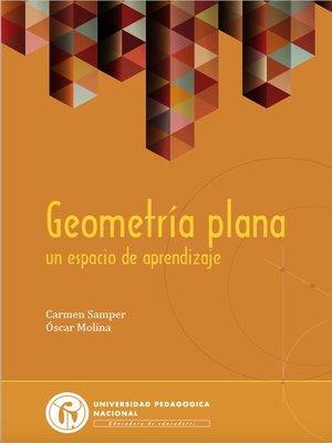 cover image of Geometría plana