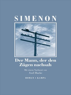 cover image of Der Mann, der den Zügen nachsah