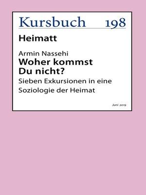 cover image of Woher kommst Du nicht?