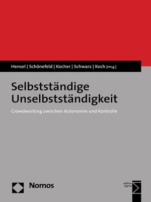 cover image of Selbstständige Unselbstständigkeit