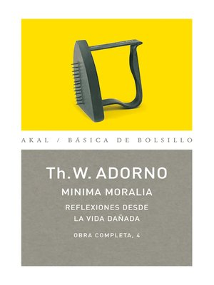 cover image of Minima moralia