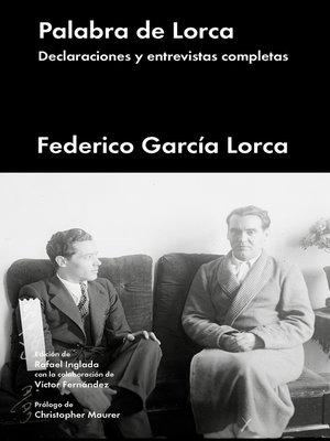 cover image of Palabra de Lorca
