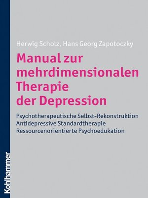 cover image of Manual zur mehrdimensionalen Therapie der Depression