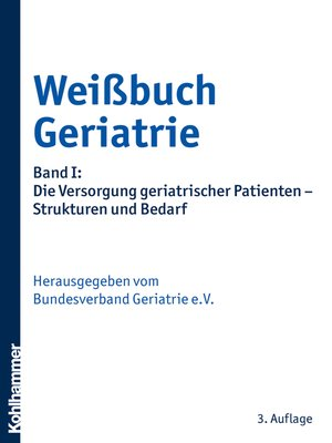 cover image of Weißbuch Geriatrie
