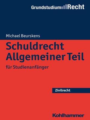 cover image of Schuldrecht Allgemeiner Teil