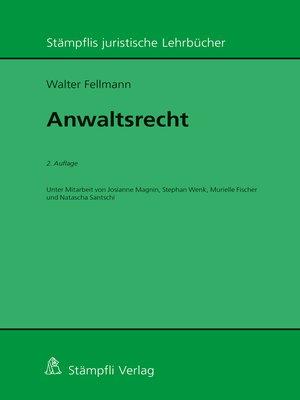 cover image of Anwaltsrecht