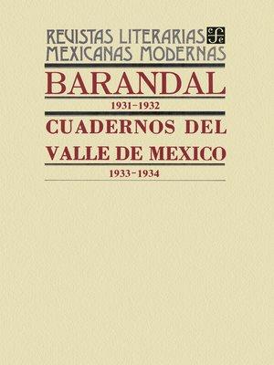 cover image of Barandal, 1931-1932. Cuadernos del Valle de México, 1933-1934