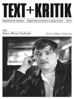 cover image of TEXT+KRITIK 103/2. Aufl. Neuf.--Rainer Werner Fassbinder