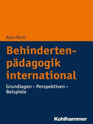 cover image of Behindertenpädagogik international