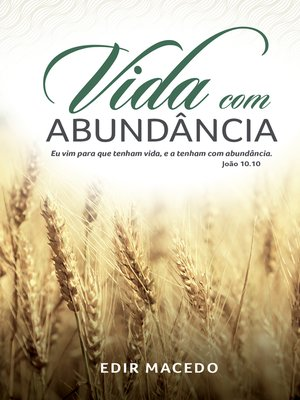 cover image of Vida com abundância