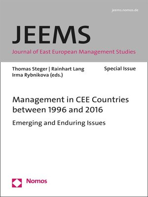 cover image of Management in CEE Countries between 1996 and 2016