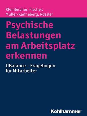 cover image of Psychische Belastungen am Arbeitsplatz erkennen