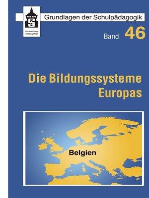 cover image of Die Bildungssysteme Europas--Belgien