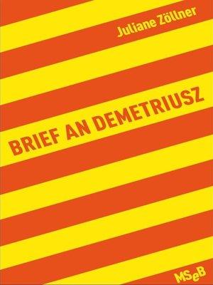 cover image of Brief an Demetriusz