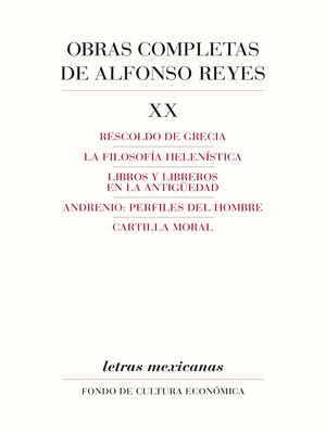 cover image of Obras completas, XX