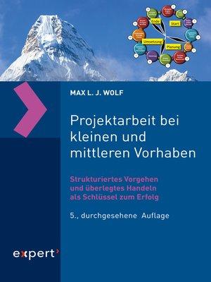 cover image of Projektarbeit bei kleinen und mittleren Vorhaben