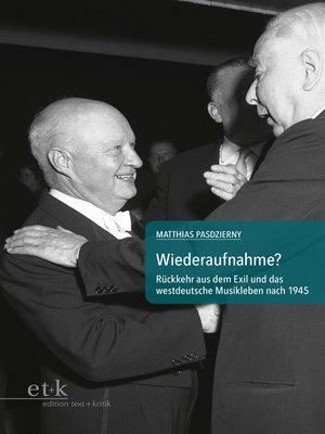cover image of Wiederaufnahme?