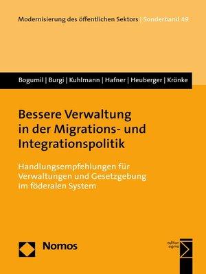 cover image of Bessere Verwaltung in der Migrations- und Integrationspolitik