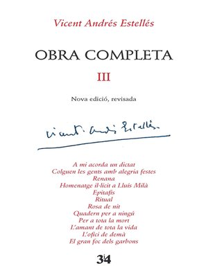 cover image of Obra completa, 3