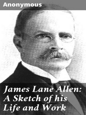 cover image of James Lane Allen