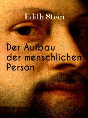 cover image of Der Aufbau der menschlichen Person
