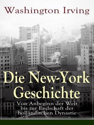 cover image of Die New-York Geschichte