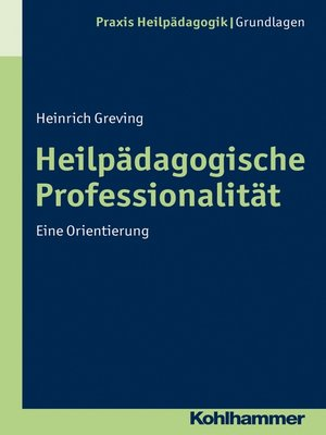 cover image of Heilpädagogische Professionalität