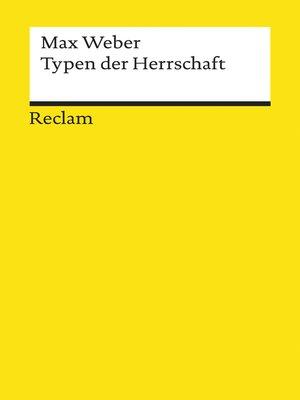 cover image of Typen der Herrschaft