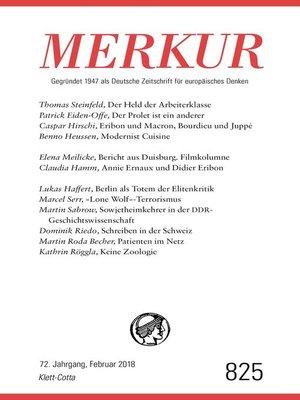 cover image of MERKUR Gegründet 1947 als Deutsche Zeitschrift für europäisches Denken--2018-02