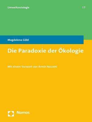 cover image of Die Paradoxie der Ökologie