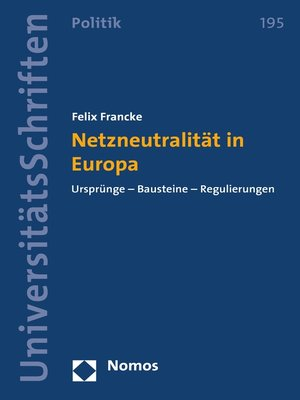 cover image of Netzneutralität in Europa