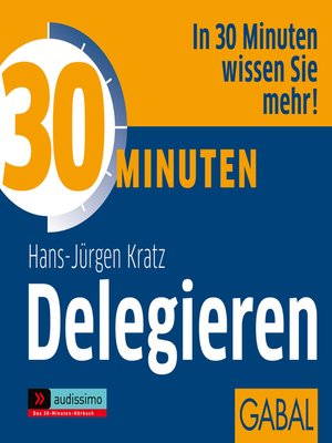 cover image of 30 Minuten Delegieren