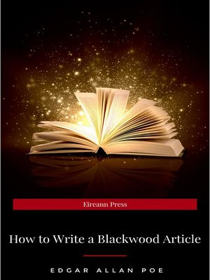 cover image of How to Write a Blackwood Article