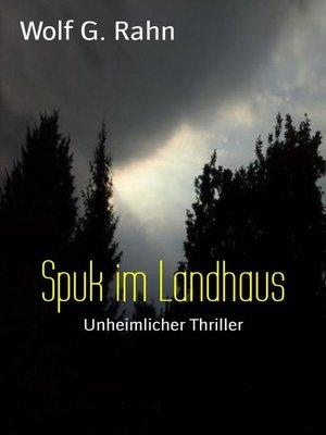 cover image of Spuk im Landhaus